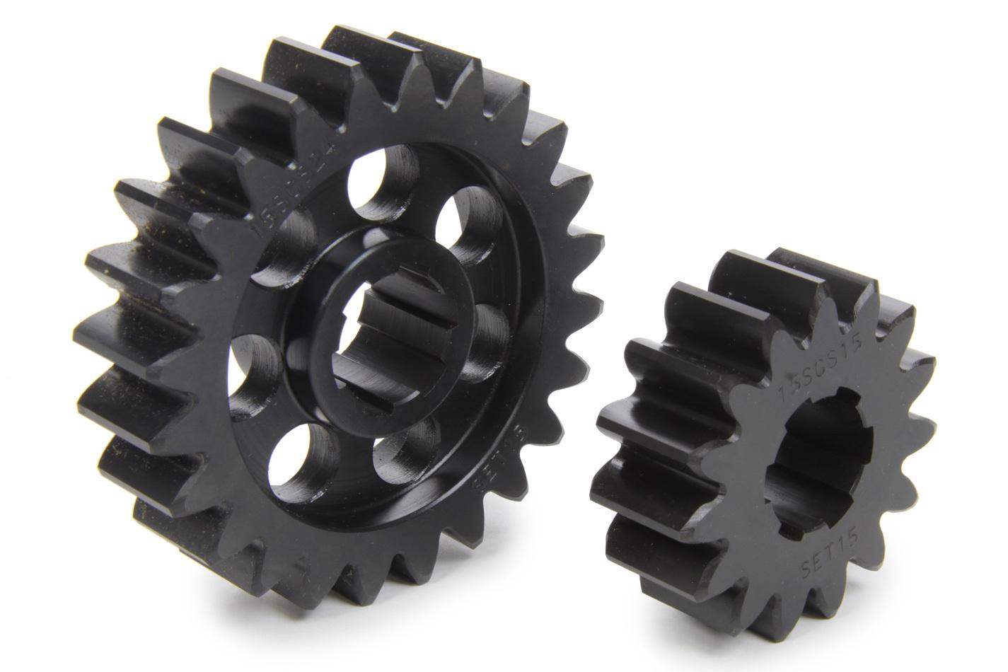 SCS Gears 615 Quick Change Gear Set, Professional, Set 615, 6 Spline, 4.11 Ratio 2.57 / 6.58, 4.33 Ratio 2.71 / 6.93, Steel, Each