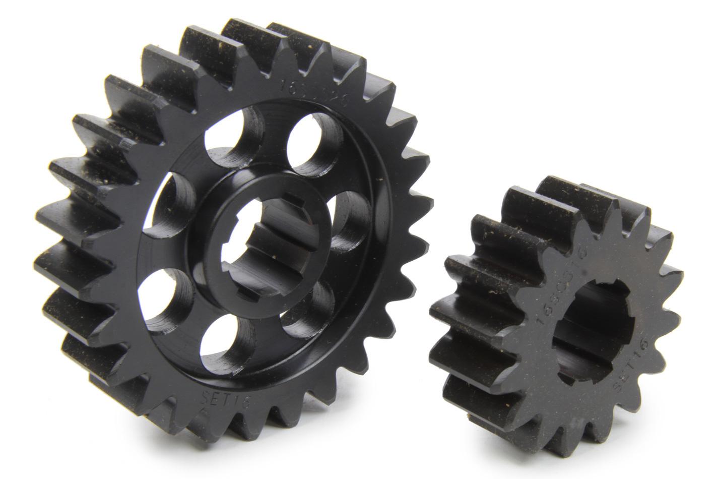 SCS Gears 616 Quick Change Gear Set, Professional, Set 616, 6 Spline, 4.11 Ratio 2.53 / 6.68, 4.33 Ratio 2.66 / 7.04, Steel, Each