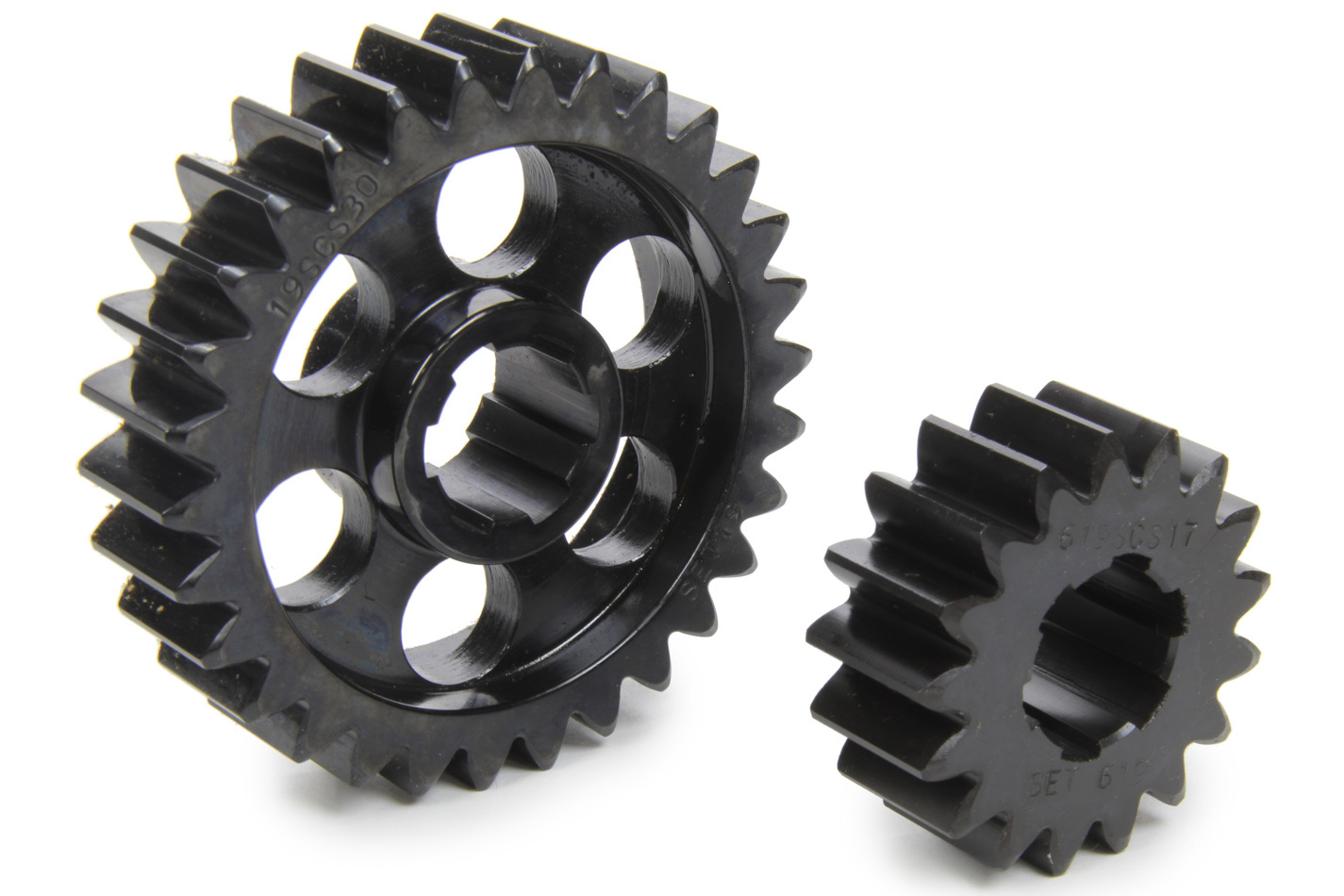 SCS Gears 619 Quick Change Gear Set, Professional, Set 619, 6 Spline, 4.11 Ratio 2.33 / 7.25, 4.33 Ratio 2.45 / 7.64, Steel, Each