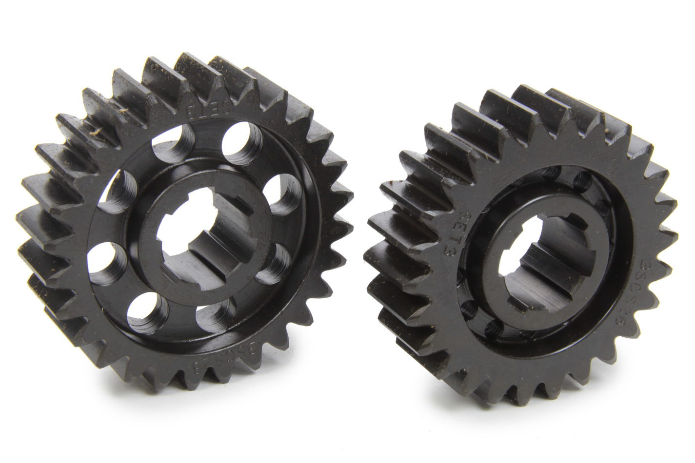 SCS Gears 63 Quick Change Gear Set, Professional, Set 63, 6 Spline, 4.11 Ratio 3.82 / 4.43, 4.33 Ratio 4.02 / 4.66, Steel, Each