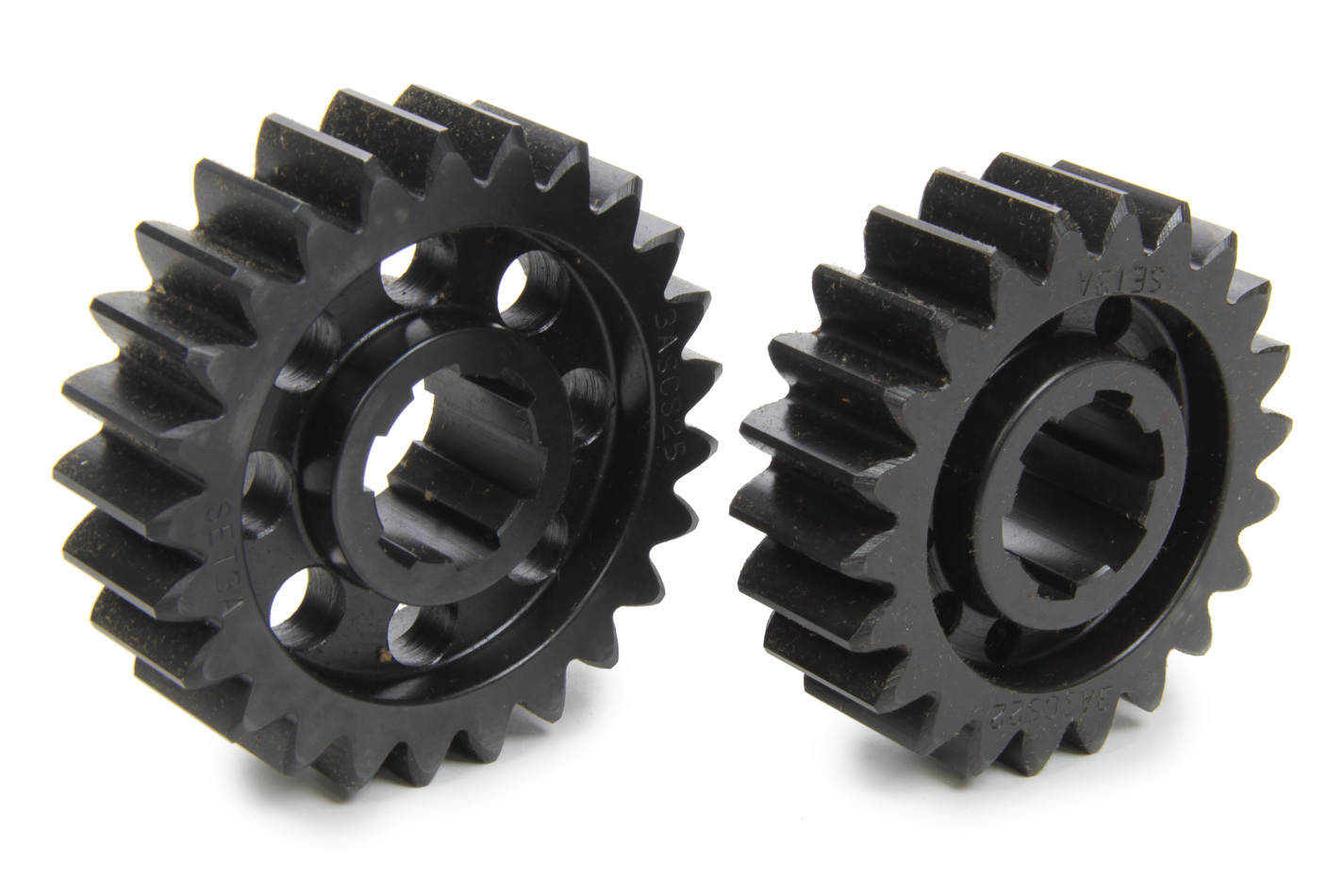 SCS Gears 63A Quick Change Gear Set, Professional, Set 63A, 6 Spline, 4.11 Ratio 3.62 / 4.67, 4.33 Ratio 3.81 / 4.92, Steel, Each