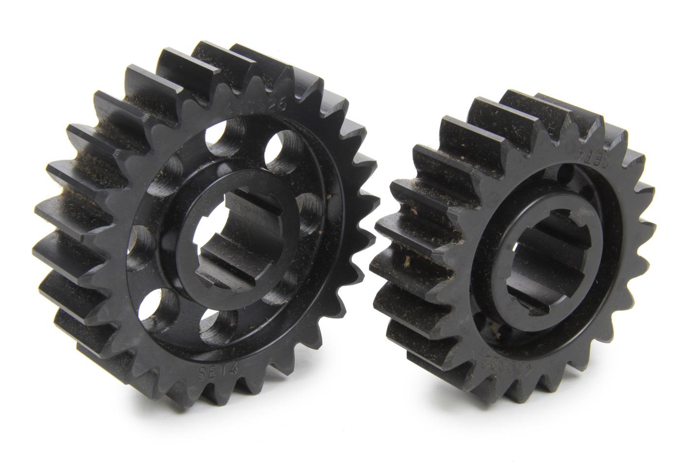 SCS Gears 64 Quick Change Gear Set, Professional, Set 64, 6 Spline, 4.11 Ratio 3.48 / 4.86, 4.33 Ratio 3.66 / 5.12, Steel, Each