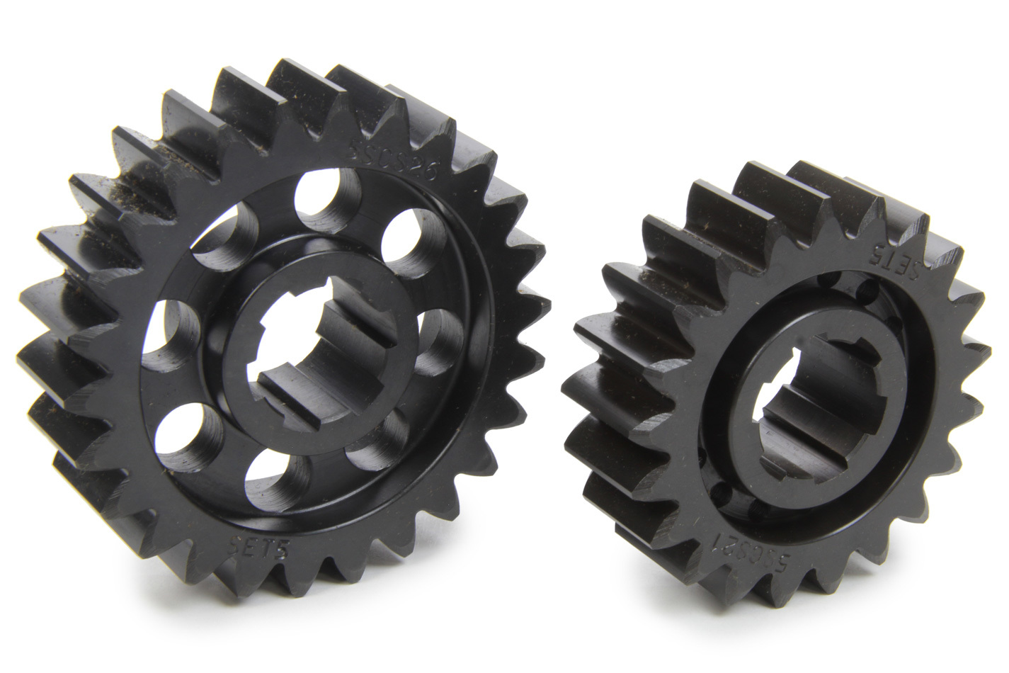 SCS Gears 65 Quick Change Gear Set, Professional, Set 65, 6 Spline, 4.11 Ratio 3.32 / 5.09, 4.33 Ratio 3.50 / 5.36, Steel, Each