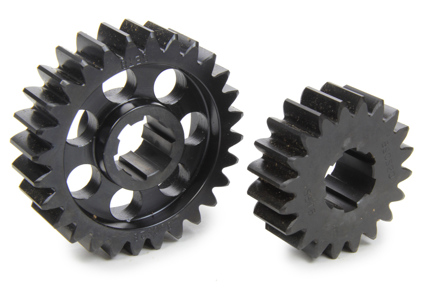 SCS Gears 68 Quick Change Gear Set, Professional, Set 68, 6 Spline, 4.11 Ratio 2.94 / 5.75, 4.33 Ratio 3.09 / 6.06, Steel, Each