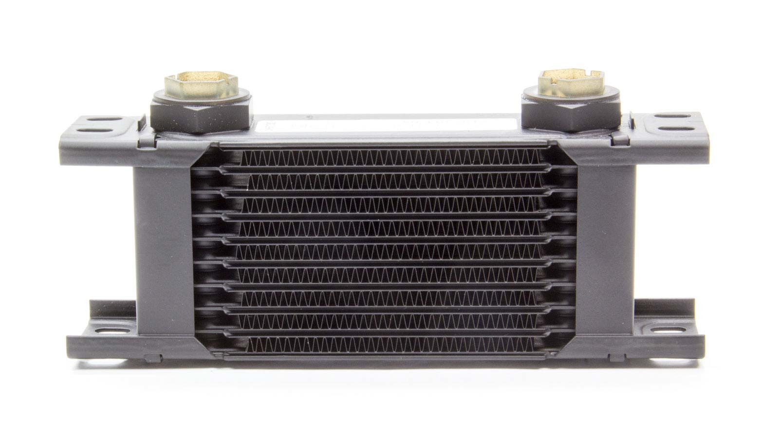 Setrab Oil Coolers 50-110-7612 Fluid Cooler, ProLine STD 1 Series, 8-17/64 x 3-11/32 x 2 in, Plate Type, 22 mm x 1.50 Female Inlet, 22 mm x 1.50 Female Outlet, Aluminum, Black Paint, Universal, Each