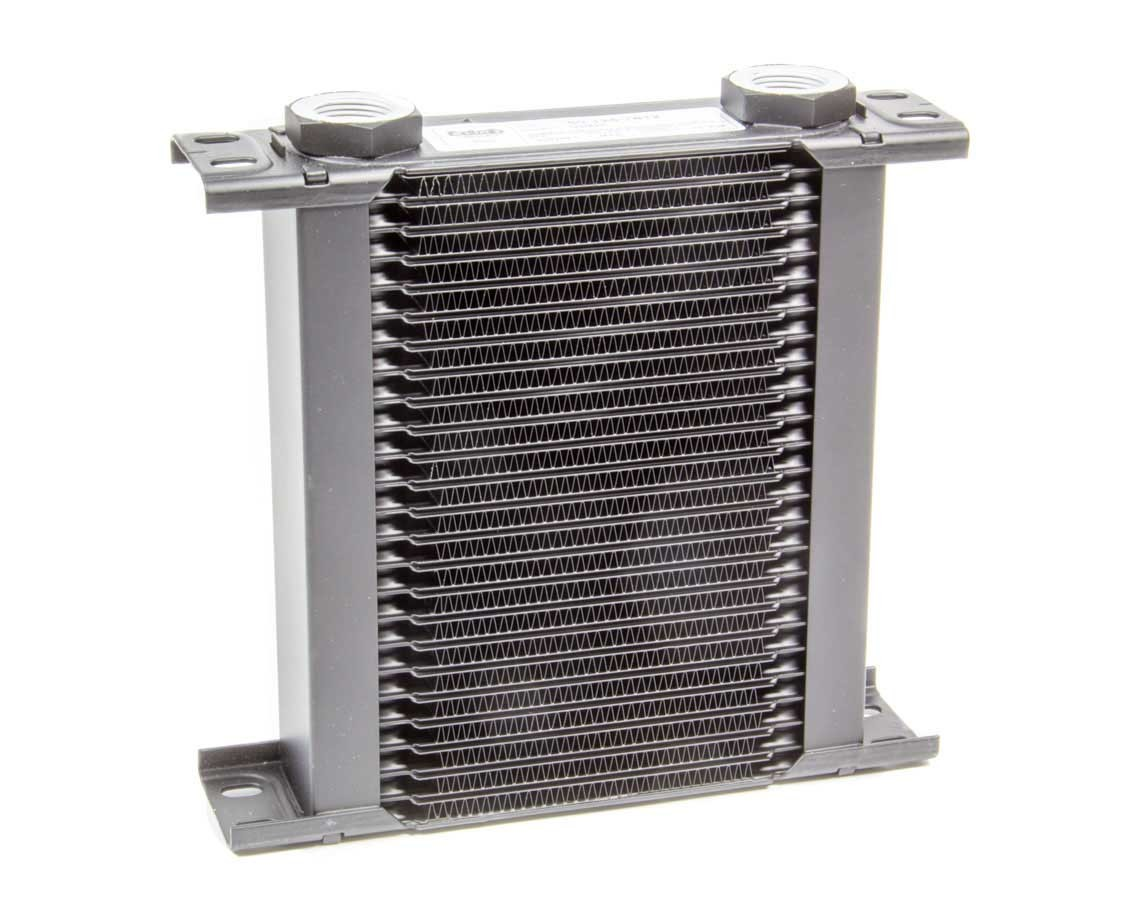 Setrab Oil Coolers 50-125-7612 Fluid Cooler, ProLine STD 1 Series, 8-17/64 x 8 x 2 in, Plate Type, 22 mm x 1.50 Female Inlet, 22 mm x 1.50 Female Outlet, Aluminum, Black Paint, Universal, Each