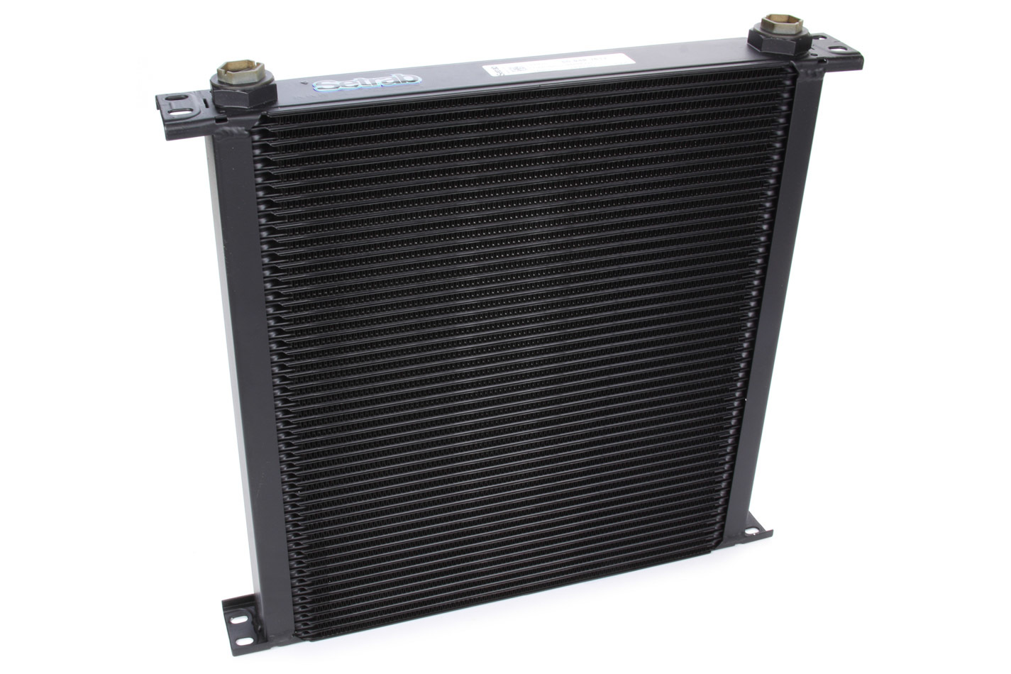 Setrab Oil Coolers 50-948-7612 Fluid Cooler, ProLine STD 9 Series, 16 x 14-3/4 x 2 in, Plate Type, 22 mm x 1.50 Female Inlet / Outlet, Aluminum, Black Paint, Universal, Each