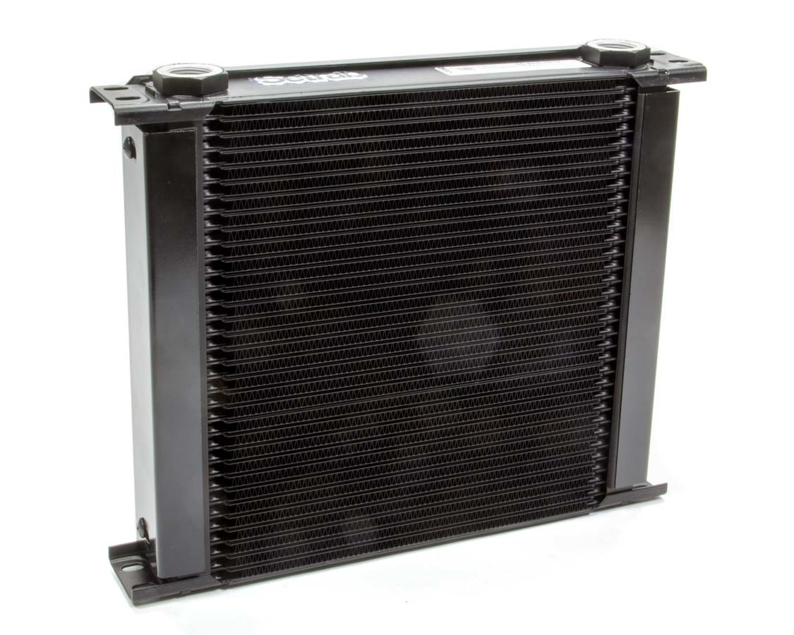 Setrab Oil Coolers FP634M22I Fluid Cooler and Fan, 13 x 10-7/8 x 4-1/2 in, Plate Type, 22 mm x 1.50 Female Inlet, 22 mm x 1.50 Female Outlet, Aluminum, Black Paint, Universal, Each