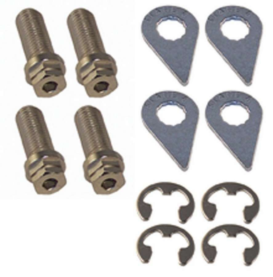 Stage 8 3903 Turbo Flange Bolt, Locking, 10 mm x 1.25 Thread, 25 mm Long, Hex Head, Steel, Nickel Plated, Set of 4