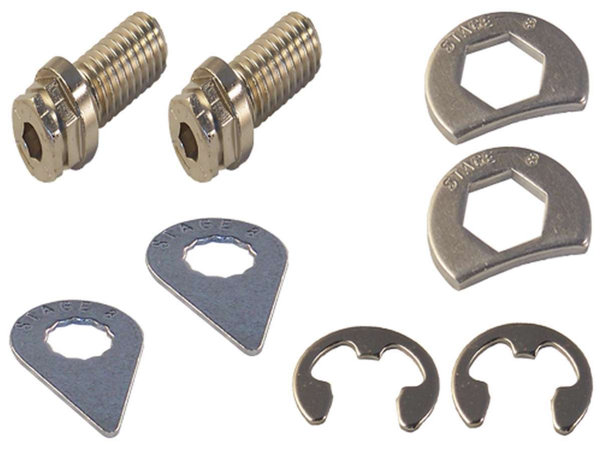 Stage 8 8910A Header Bolt, Locking, 3/8-16 in Thread, 1.000 in Long, Hex Head, Steel, Nickel Plated, Universal, Pair
