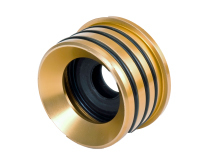 Seals-It AS9250 Axle Housing Seal, Inner, 2.500 in OD, 2.480 in ID, Rubber / Aluminum, Gold, Universal, Each