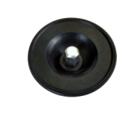 Seals-It CARB3002 Air Cleaner Nut, 5/16-18 in Thread, Dirt Plug Seal Included, Aluminum / Rubber, Chrome / Black, Universal, Each