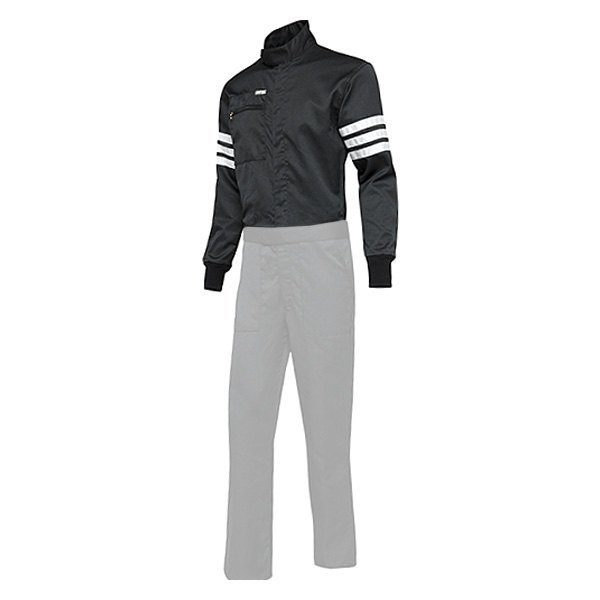 Simpson 0402212 Jacket, Driving, SFI 3.2A/5, Double Layer, Nomex, Black / White Stripes, Medium, Each