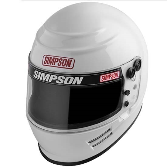 Simpson 6100011 Helmet, Voyager 2, Snell SA2015, Head and Neck Support Ready, White, Small, Each
