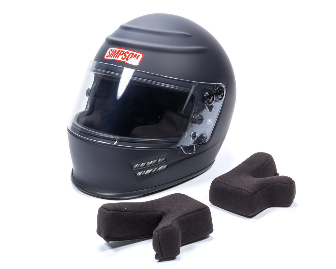 Simpson 6100018 Helmet, Voyager 2, Snell SA2015, Head and Neck Support Ready, Flat Black, Small, Each