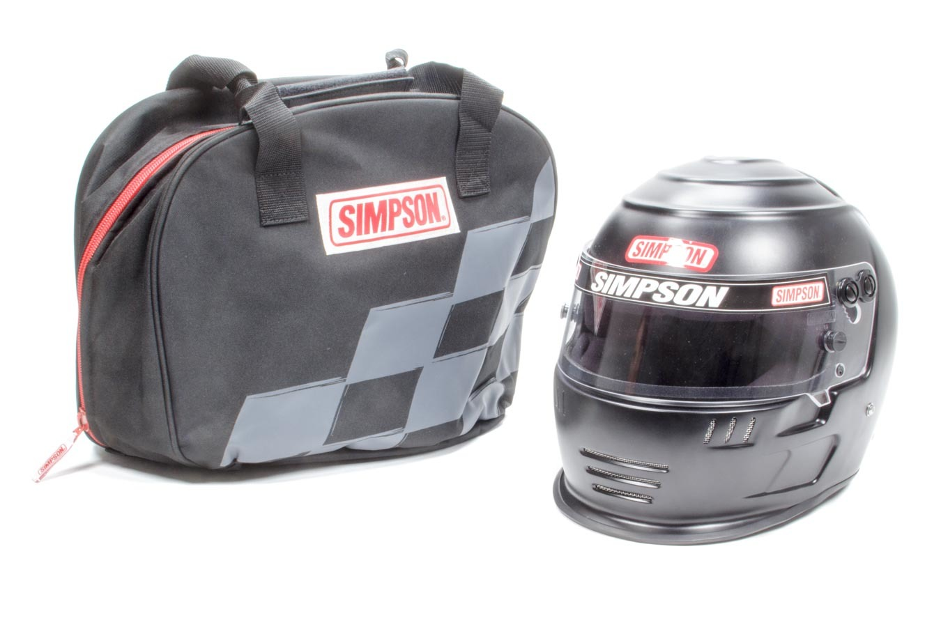 Simpson 6707148 Helmet, Speedway Shark, Snell SA2015, Head and Neck Support Ready, Flat Black, Size 7-1/4, Each