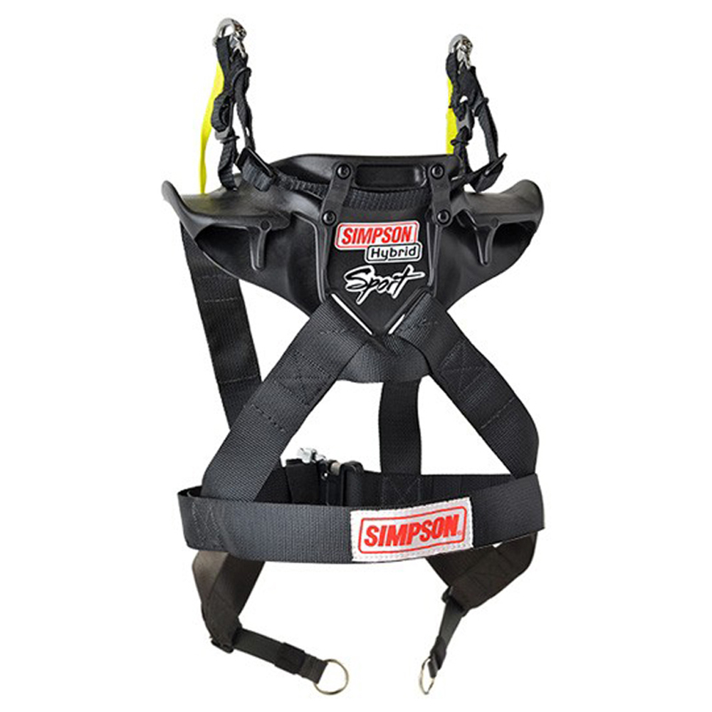 Simpson Safety HS.SML.11.SAS Head and Neck Support, Hybrid Sport, SFI 38.1, Plastic, Black, Small, Kit