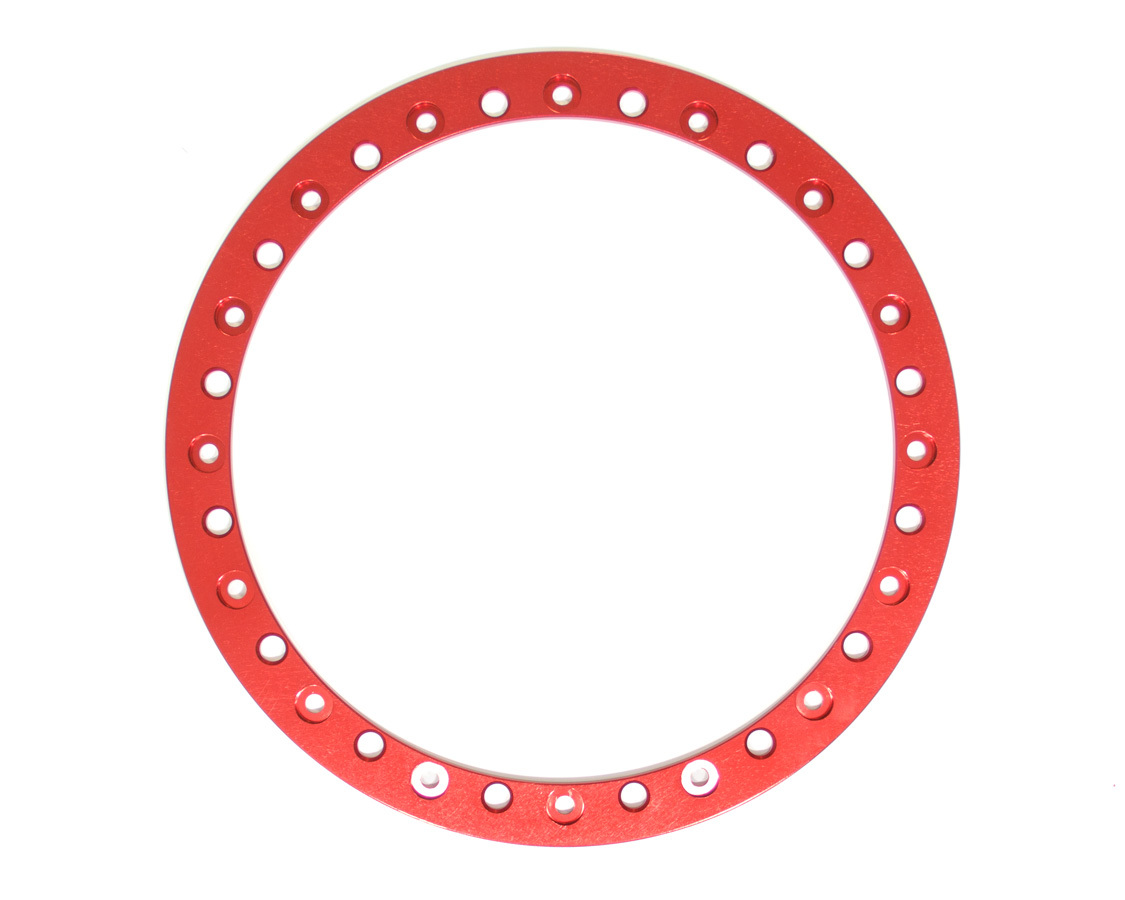 Sander Engineering 15-010 Beadlock Ring, Billet Aluminum, Red Anodize, Sander 15 in Wheels, Each