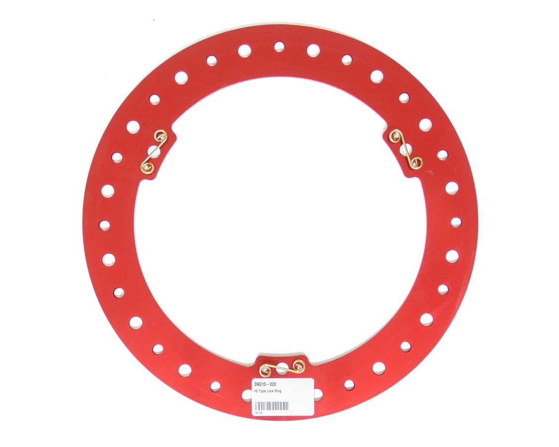 Sander Engineering 15-020 Beadlock Ring, Billet Aluminum, Red Anodize, Sander 15 in Wheels, Each