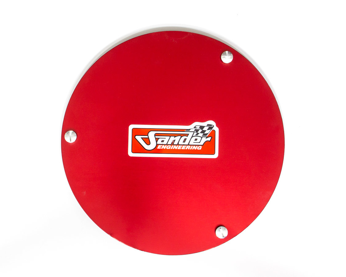 Sander Engineering 15-022 Mud Cover, Quick Release Fastener, Cover Only, Aluminum, Red Anodize, 15 in Wheels, Each