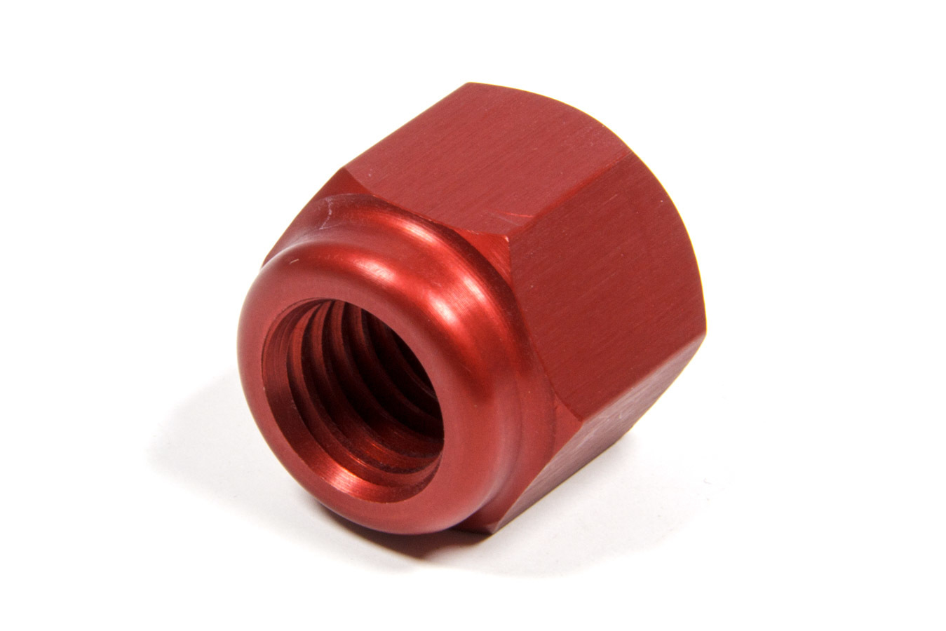 Sander Engineering S113 Lug Nut, 5/8-11 in Thread, 1 in Hex Head, Open End, Aluminum, Red Anodize, Each