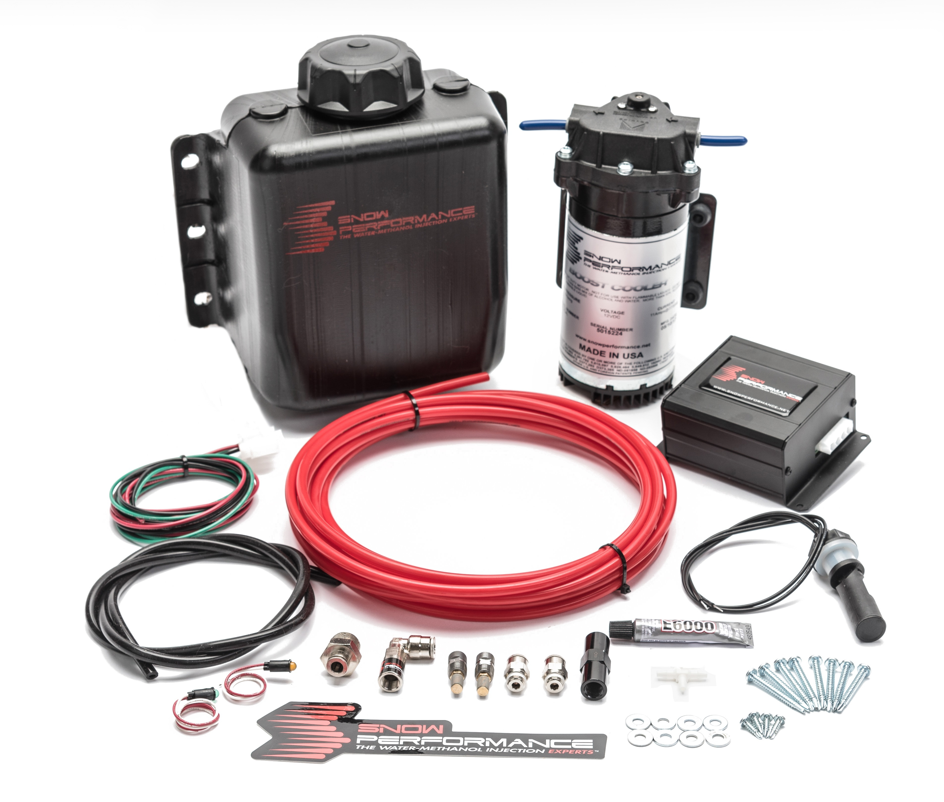 Snow Performance 20010 Water Injection System, Stage 2 Boost Cooler, Boost Reference Controlled, 3 qt Reservoir, Universal Gas, Kit
