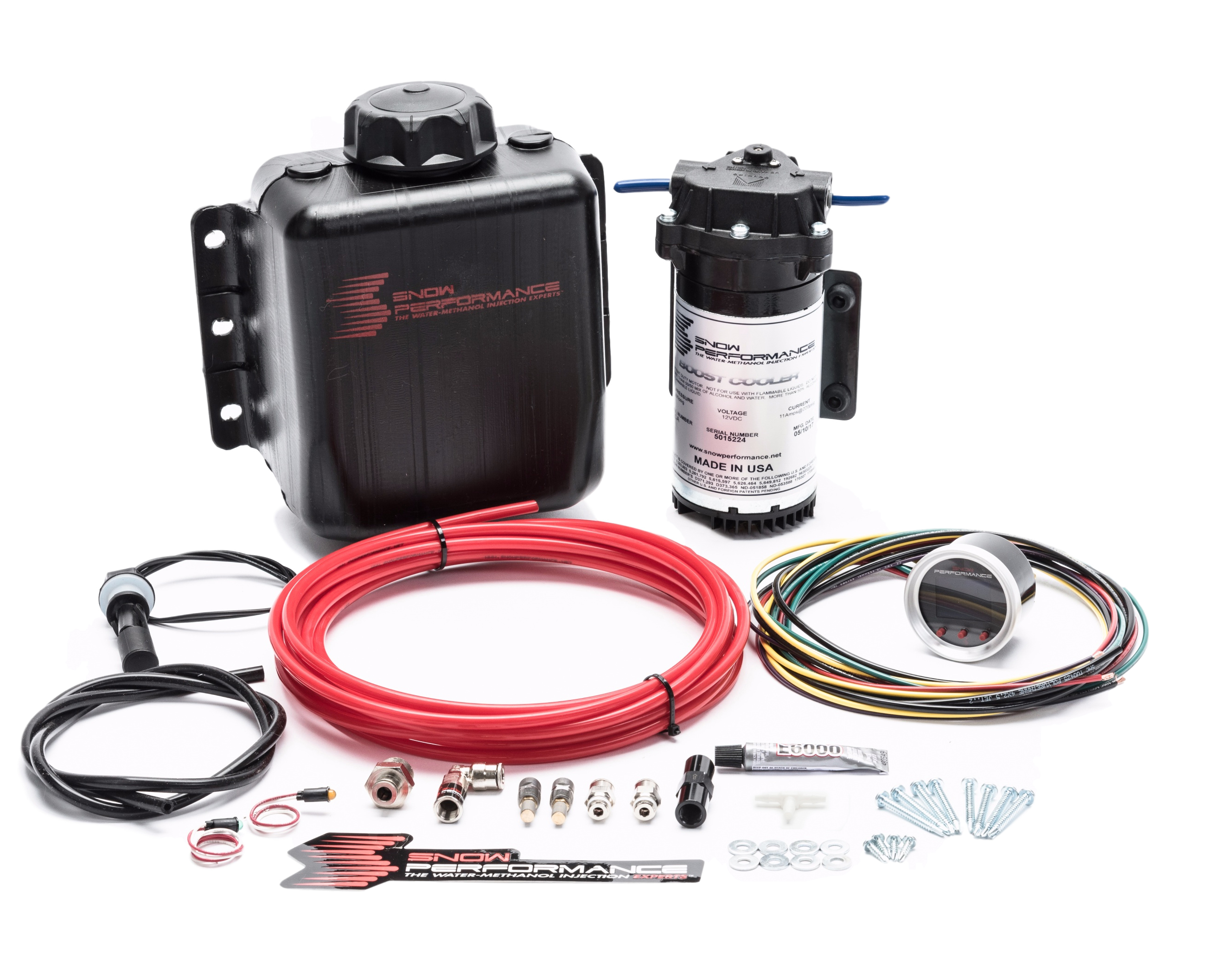 Snow Performance 210 Water Injection System, Stage 2 Boost Cooler, Progressive Controlled, 3 qt Reservoir, Universal Gas, Kit