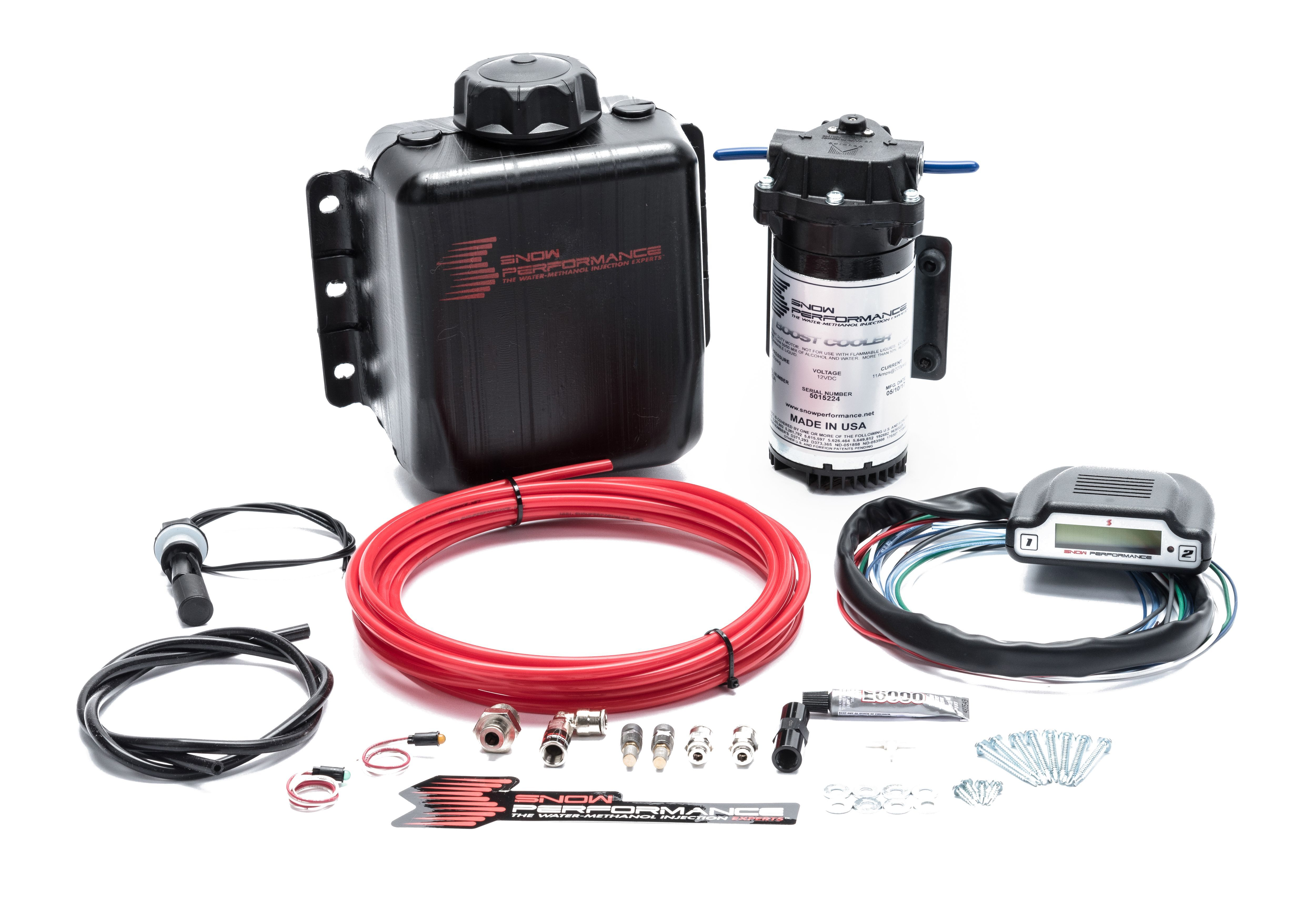 Snow Performance 310 Water Injection System, Stage 3 Boost Cooler, Boost / EFI Controlled, 3 qt Reservoir, Universal EFI Gas Engines, Kit