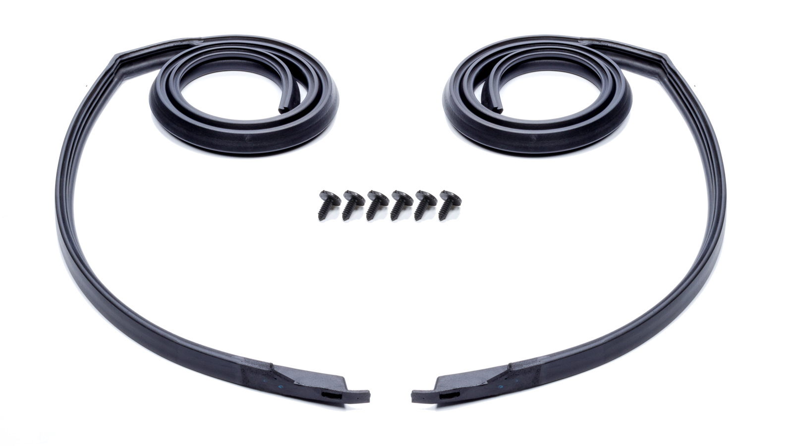 Soff Seal 5009 Weatherstrip Seal, Roof Rail, Molded Ends, Rubber, Black, Hard Top, 2 Door, GM A-Body / Y-Body 1966-67, Pair