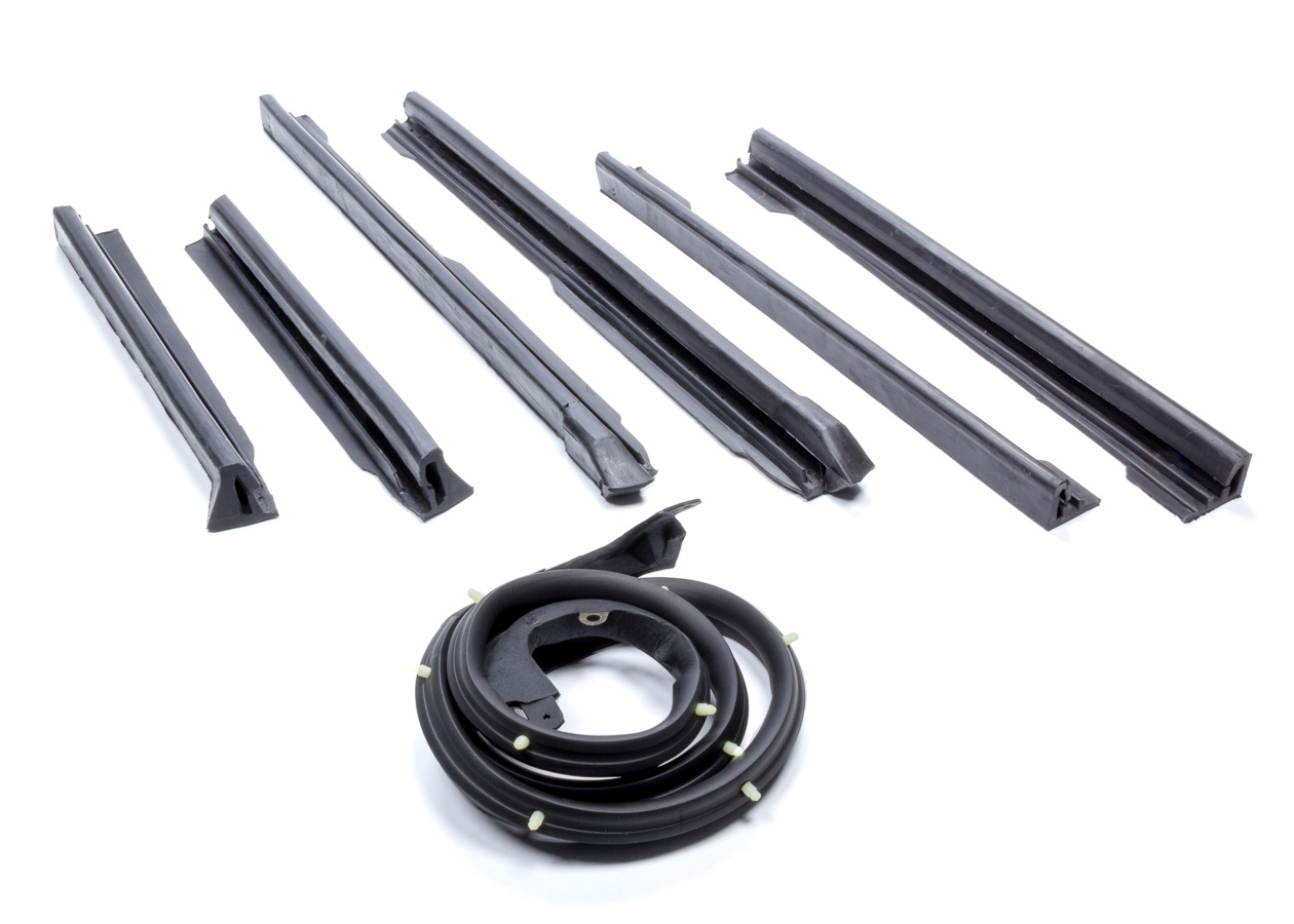 Soff Seal 5093 Weatherstrip Seal, Convertible Top, Rubber, Black, GM A-Body 1968-72, Kit