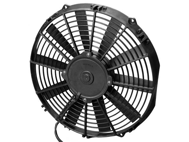 Spal 30100375 Electric Cooling Fan, Low Profile, 12 in Fan, Puller, 867 CFM, Straight Blade, 13-3/16 x 12-5/8 in, 2 in Thick, Plastic, Each