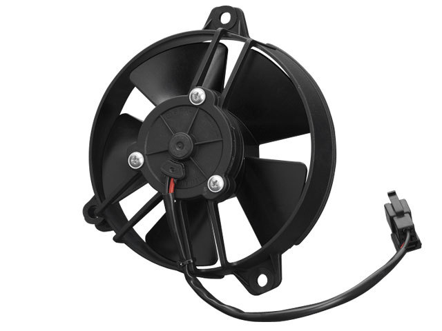 Spal 30103011 Electric Cooling Fan, Low Profile, 5-1/4 in Fan, Puller, 342 CFM, Paddle Blade, 5-1/2 in Square, 2-3/8 in Thick, Plastic, Each