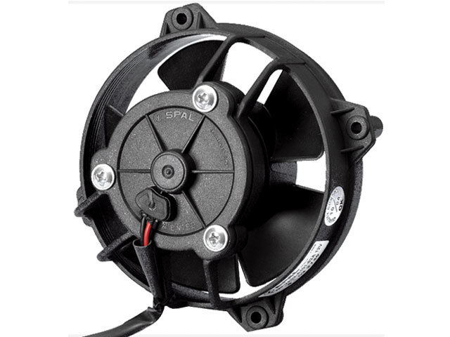 Spal 30103018 Electric Cooling Fan, Low Profile, 4 in Fan, Puller, 147 CFM, 12V, Paddle Blade, 4-1/4 in Square, 2-3/8 in Thick, Plastic, Each