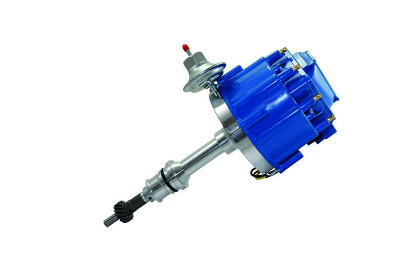 Specialty Chrome 3101 Distributor, Ready-To-Run, Magnetic Pickup, Vacuum Advance, HEI Style Terminal, Blue, Small Block Ford, Each
