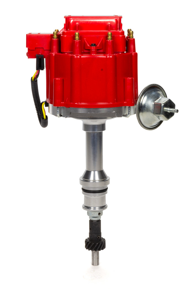 Specialty Products 3101R Distributor, Ready-To-Run, Magnetic Pickup, Vacuum Advance, HEI Style Terminal, Red, Small Block Ford, Each