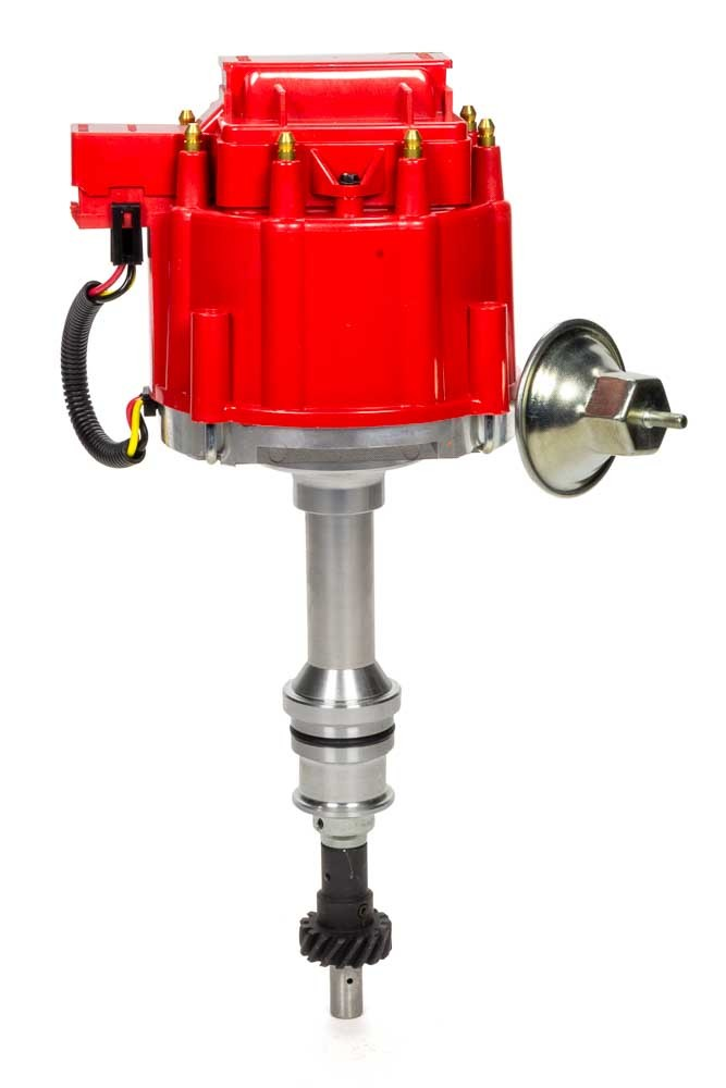 Specialty Chrome 3103R Distributor, Ready-To-Run, Magnetic Pickup, Vacuum Advance, HEI Style Terminal, Red, Big Block Ford, Each