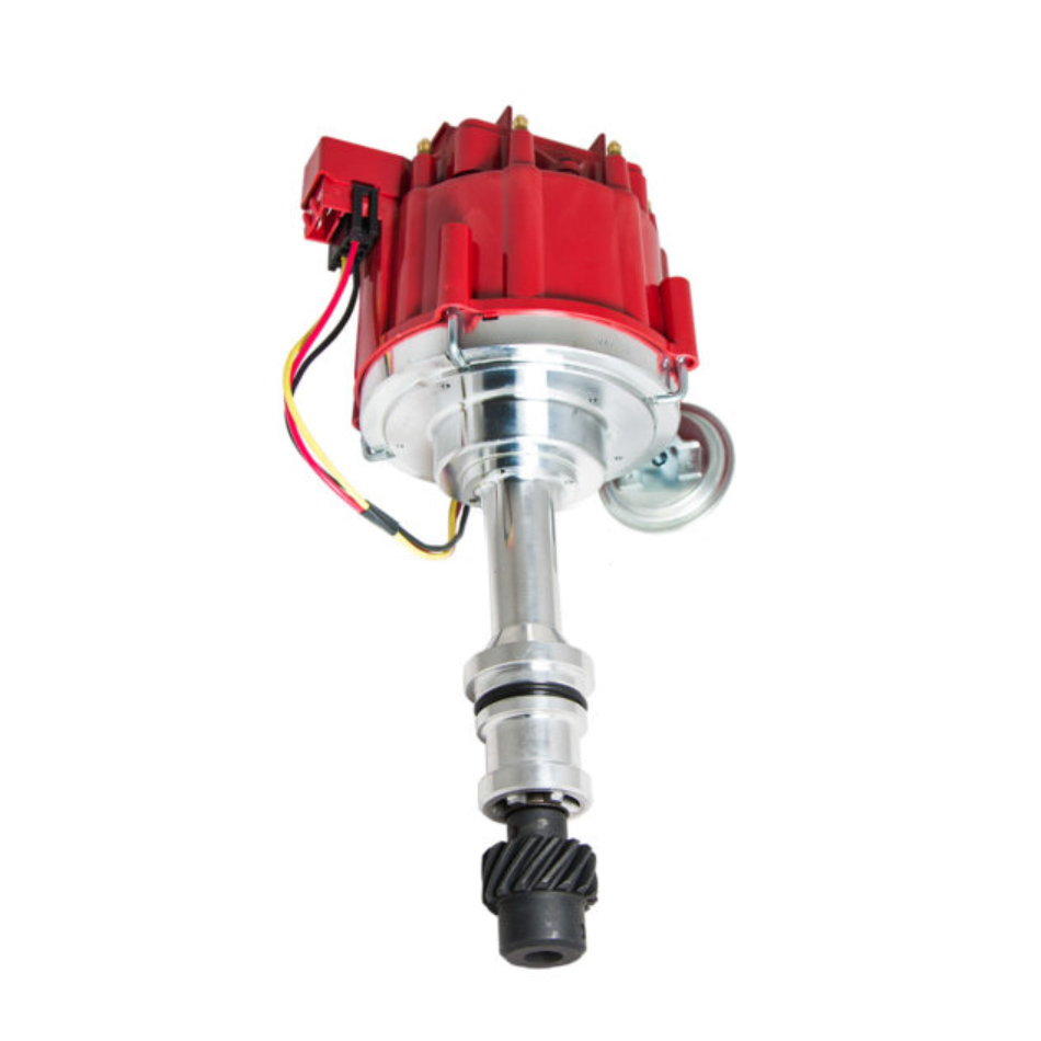 Specialty Chrome 3105R Distributor, Ready-To-Run, Magnetic Pickup, Vacuum Advance, HEI Style Terminal, Red, Oldsmobile V8, Each