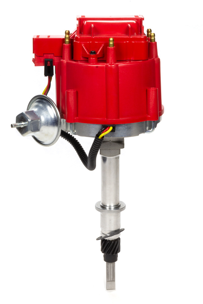 Specialty Products 3108R Distributor, Ready-To-Run, Magnetic Pickup, Vacuum Advance, HEI Style Terminal, Red, Jeep V8, Each
