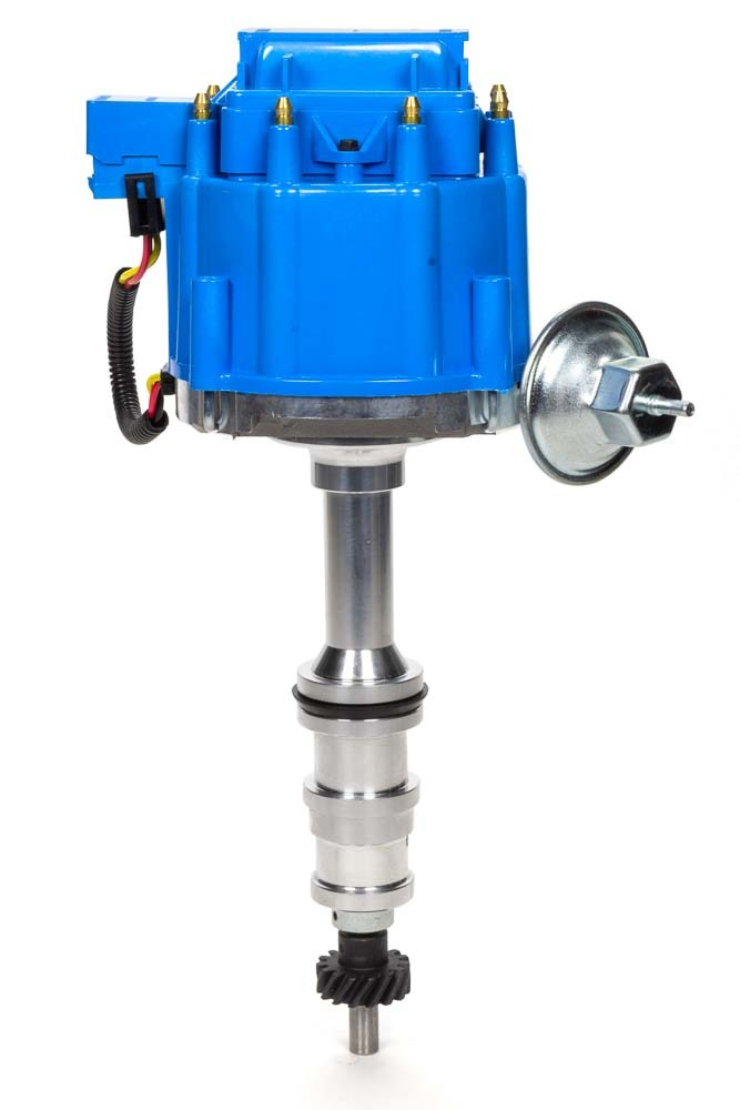 Specialty Products 3109BL Distributor, Ready-To-Run, Magnetic Pickup, Vacuum Advance, HEI Style Terminal, Blue, Ford FE-Series, Each