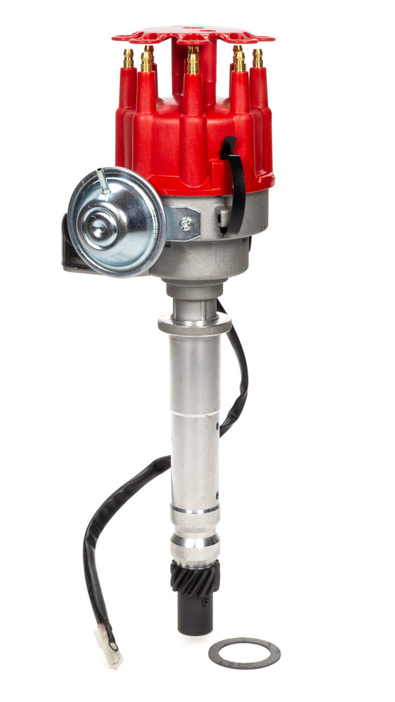 Specialty Products 3112R Distributor, Ready-To-Run, Magnetic Pickup, Vacuum Advance, HEI Style Terminal, Red, Chevy V8, Each