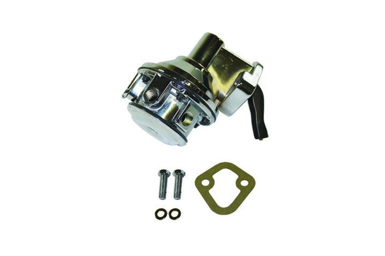 Specialty Chrome 3151 Fuel Pump, Mechanical, 80 gph, 8 psi, 1/4 in NPT Female Inlet, 1/4 in NPT Female Outlet, Aluminum, Chrome, Gas, Big Block Chevy, Each