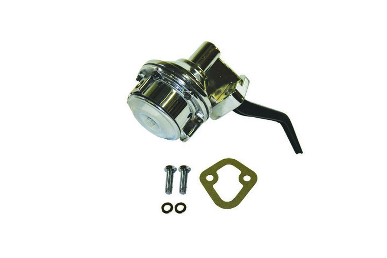 Specialty Chrome 3152 Fuel Pump, Mechanical, 80 gph, 8 psi, 1/4 in NPT Female Inlet, 1/4 in NPT Female Outlet, Aluminum, Chrome, Gas, Small Block Ford, Each