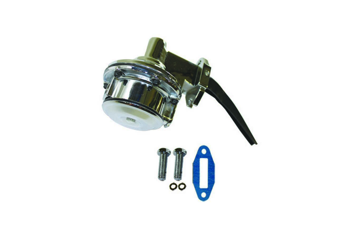 Specialty Chrome 3158 Fuel Pump, Mechanical, 80 gph, 8 psi, 1/4 in NPT Female Inlet, 1/4 in NPT Female Outlet, Aluminum, Chrome, Gas, Oldsmobile V8, Each