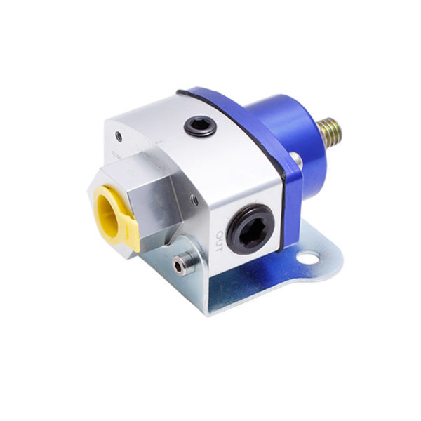Speciality Products 3163BL Fuel Pressure Regulator, Adjustable, 5 to 12 psi, In-Line, 3/8 in NPT Inlet / Outlet, Aluminum, Blue Anodized, Gas, Each