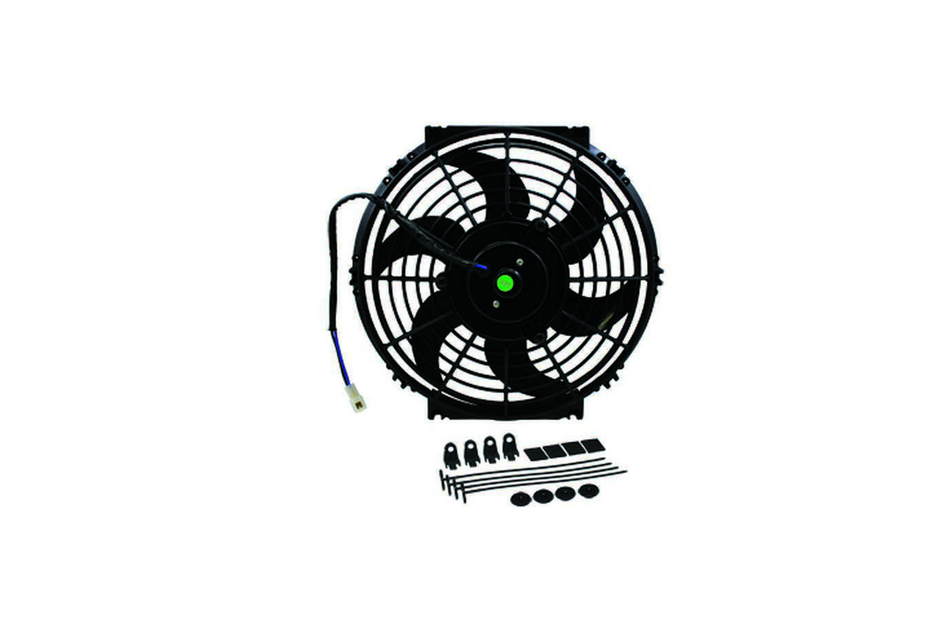 Specialty Products 3181 Electric Cooling Fan, 10 in Fan, Push / Pull, 1105 CFM, 12V, Curved Blade, 8-7/8 x 11-1/2 in, 2-3/8 in Thick, Plastic, Each