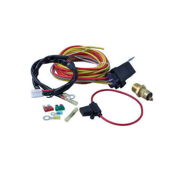 Specialty Products 3185 Fan Controller, 185 Degree F On, 165 Degree F Off, 3/8 in NPT Thread Temperature Sensor, Harness / Relay, Universal, Kit
