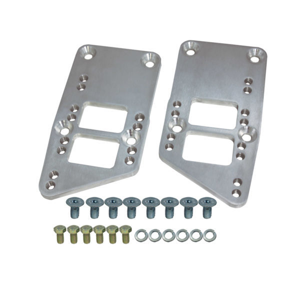 Specialty Chrome 3305 Motor Mount, Adapter Plate, Bolt-On, Aluminum, Natural, Early Small Block Chevy Frame Mount to GM LS-Series, Kit