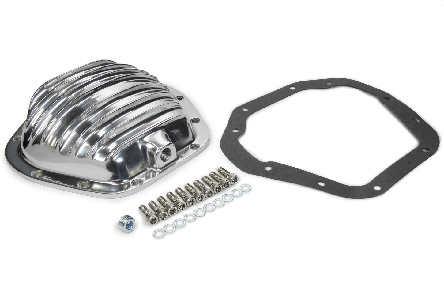Specialty Products 4911KIT Differential Cover, Gasket / Hardware Included, Aluminum, Chrome, Dana 60, Each