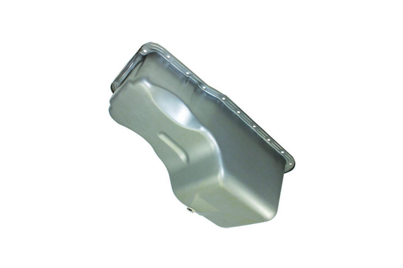 Specialty Products 7445X Engine Oil Pan, Front Sump, Stock Capacity, Stock Depth, Steel, Natural, Small Block Ford, Each
