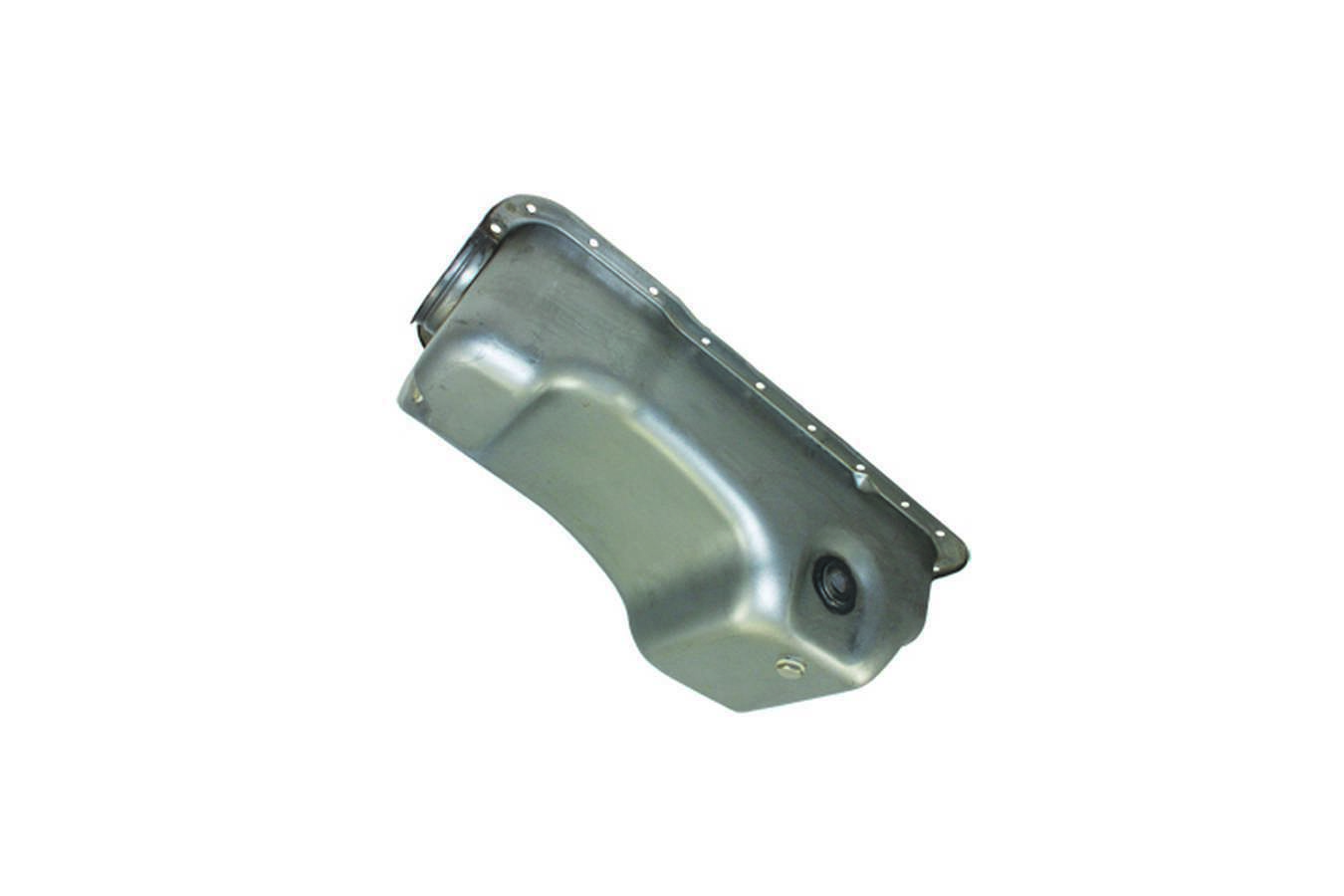 Specialty Products 7457X Engine Oil Pan, Dual Sump, Stock Capacity, Stock Depth, Steel, Natural, Small Block Ford, Each